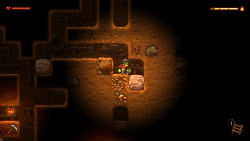 SteamWorld Dig kaivoksessa