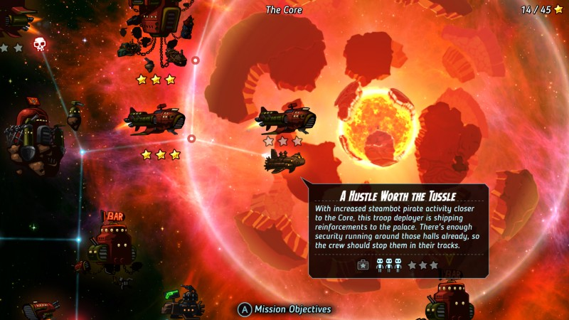 SteamWorld Heist kartta