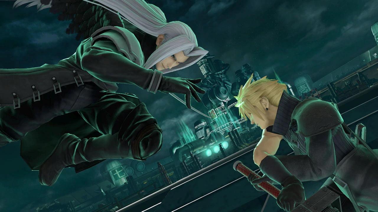 Super Smash Bros. Ultimate Sephiroth ja Cloud