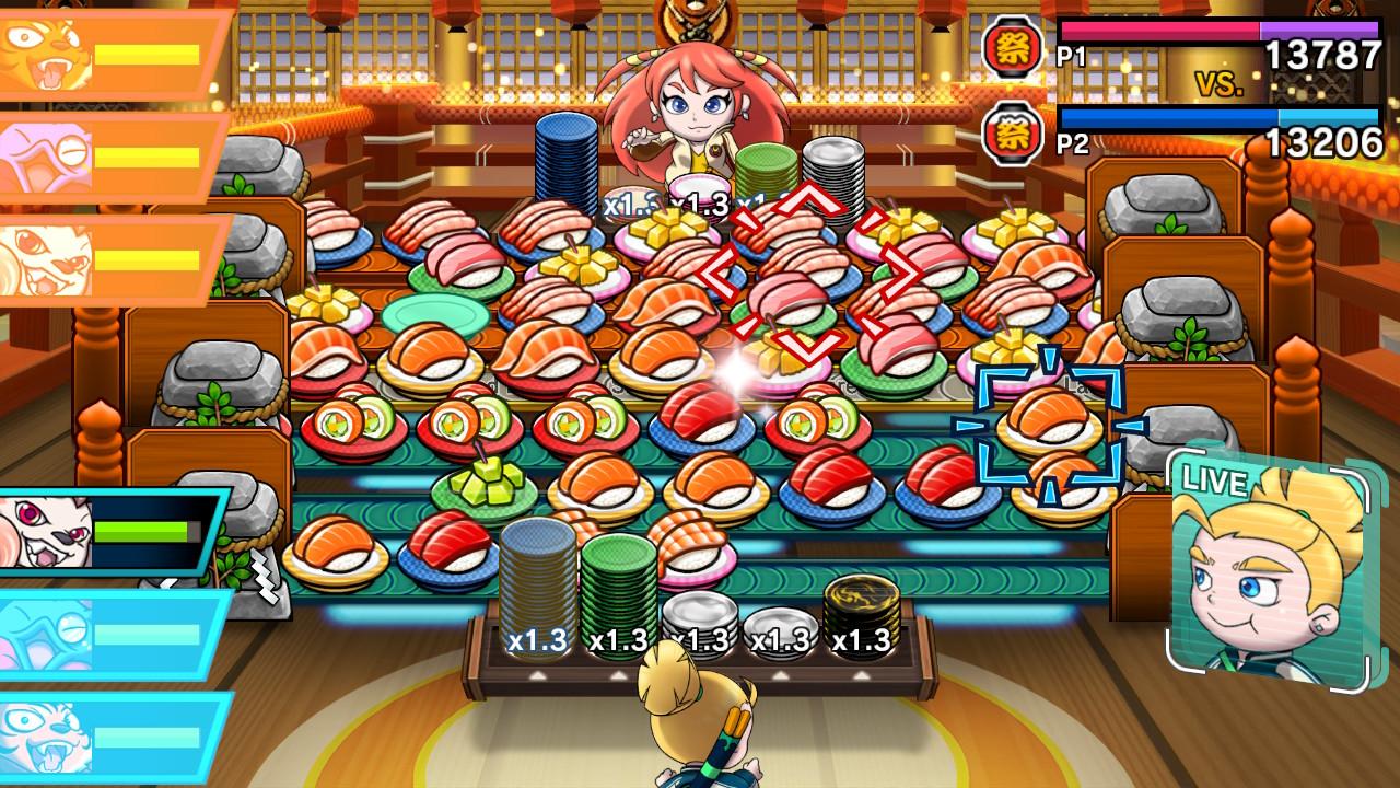 Sushi Striker The Way of Sushido kaksinpeli