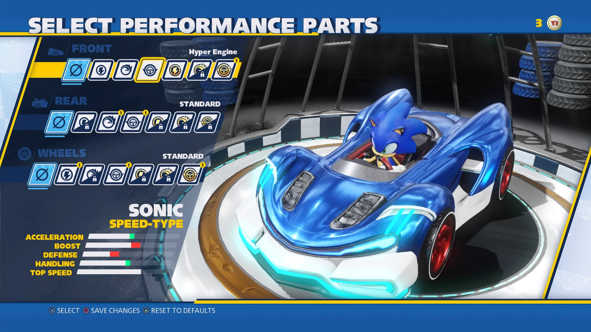 Team Sonic Racing Sonicin kaara