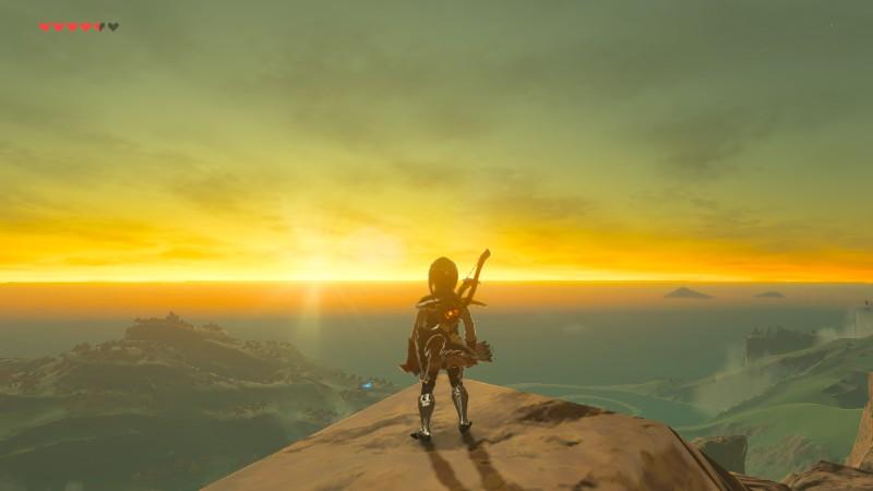 The Legend of Zelda Breath of the Wild auringonlasku auringonnousu