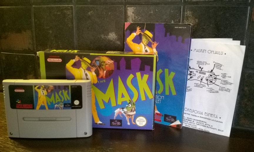 The Mask pelikasetti, kotelo ja ohjeet