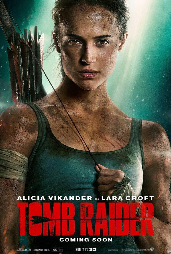 Tomb Raider Alicia Vikander suora kaula