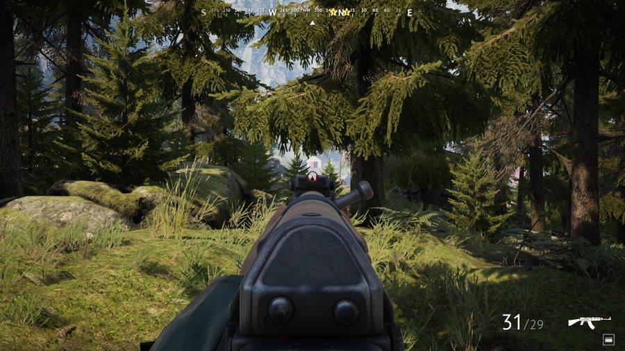 Vigor ase ojossa metsän keskellä