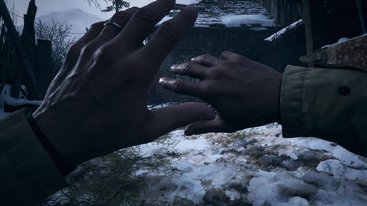 Resident Evil 8 Village Ethan blokkaa