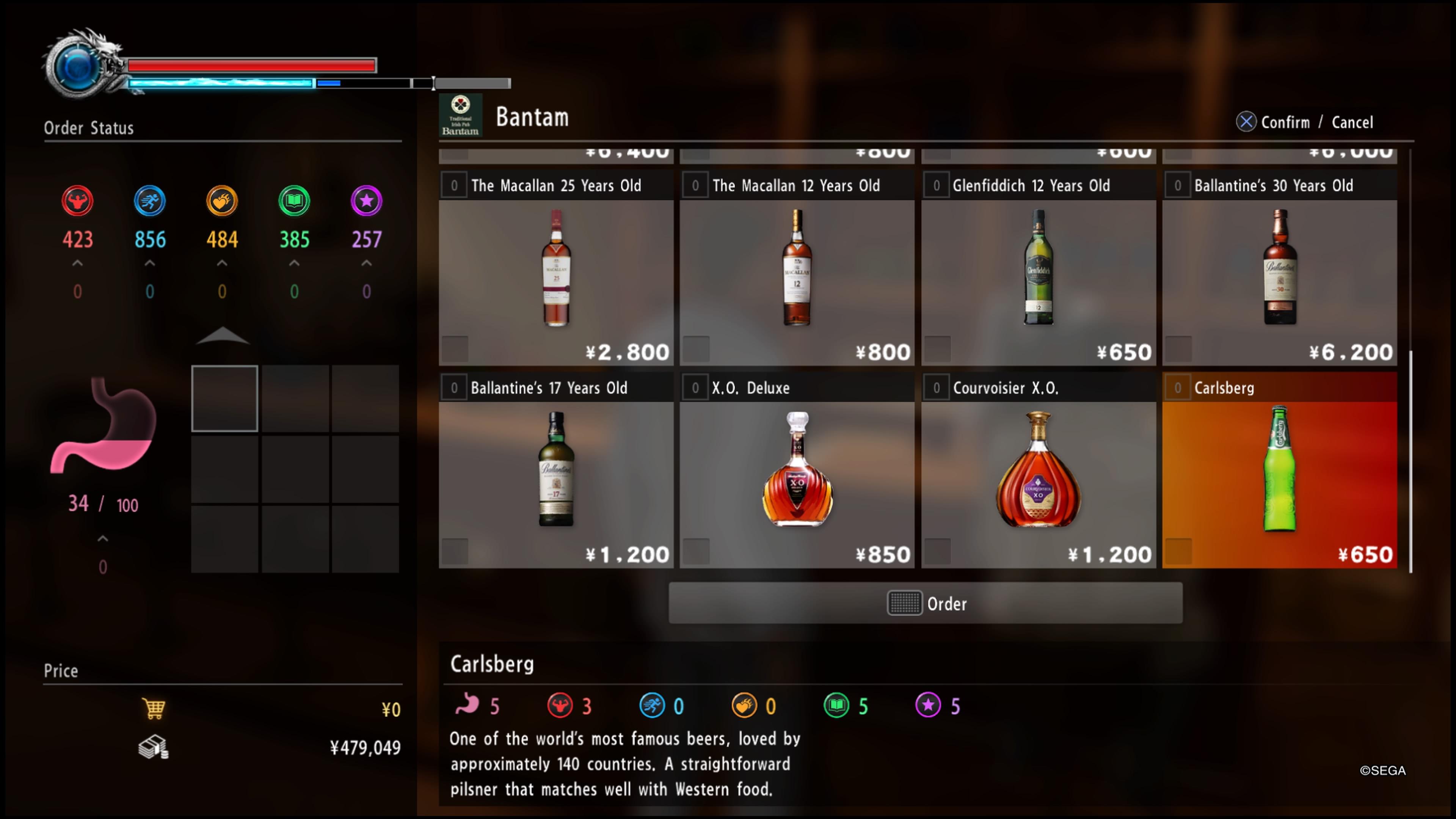 YAKUZA KIWAMI 2 juomia on siinä monenlaista