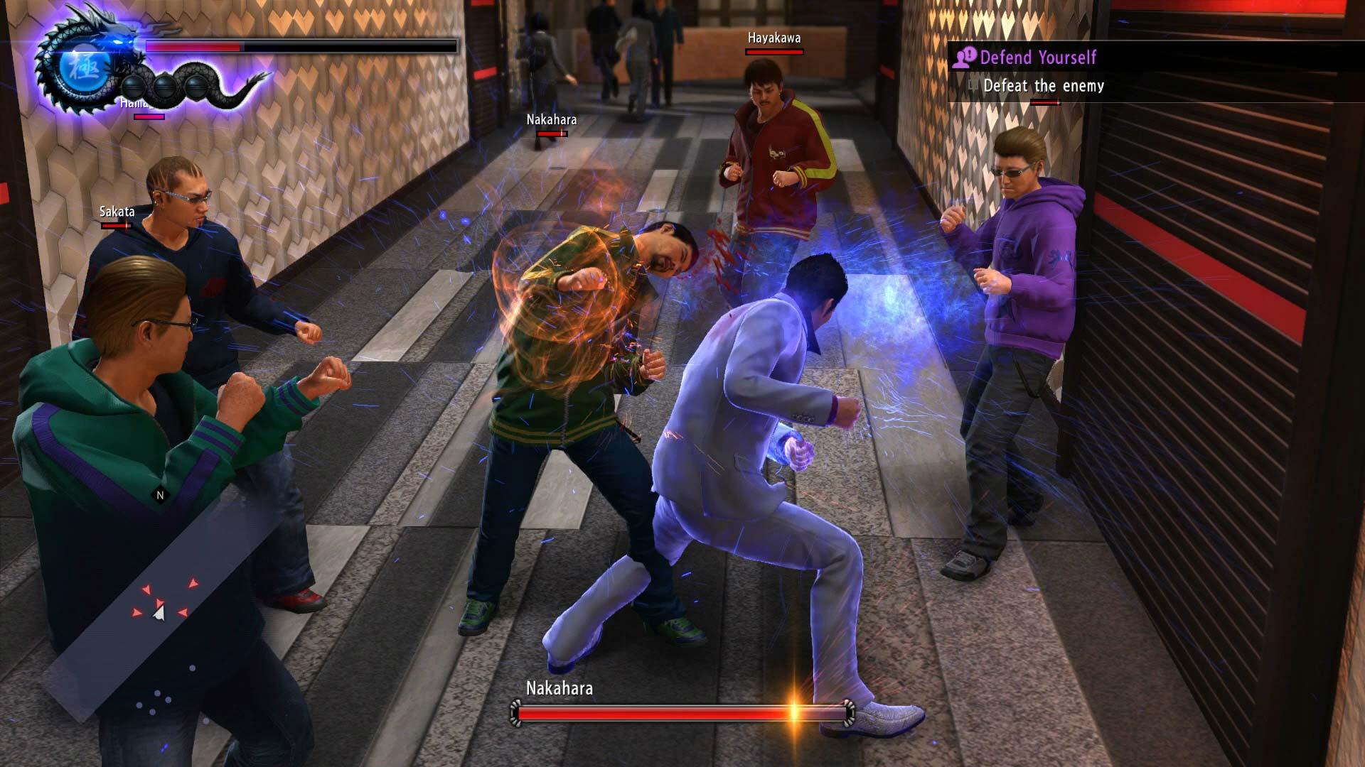 Yakuza 6 The Song of Life taistelu käytävällä