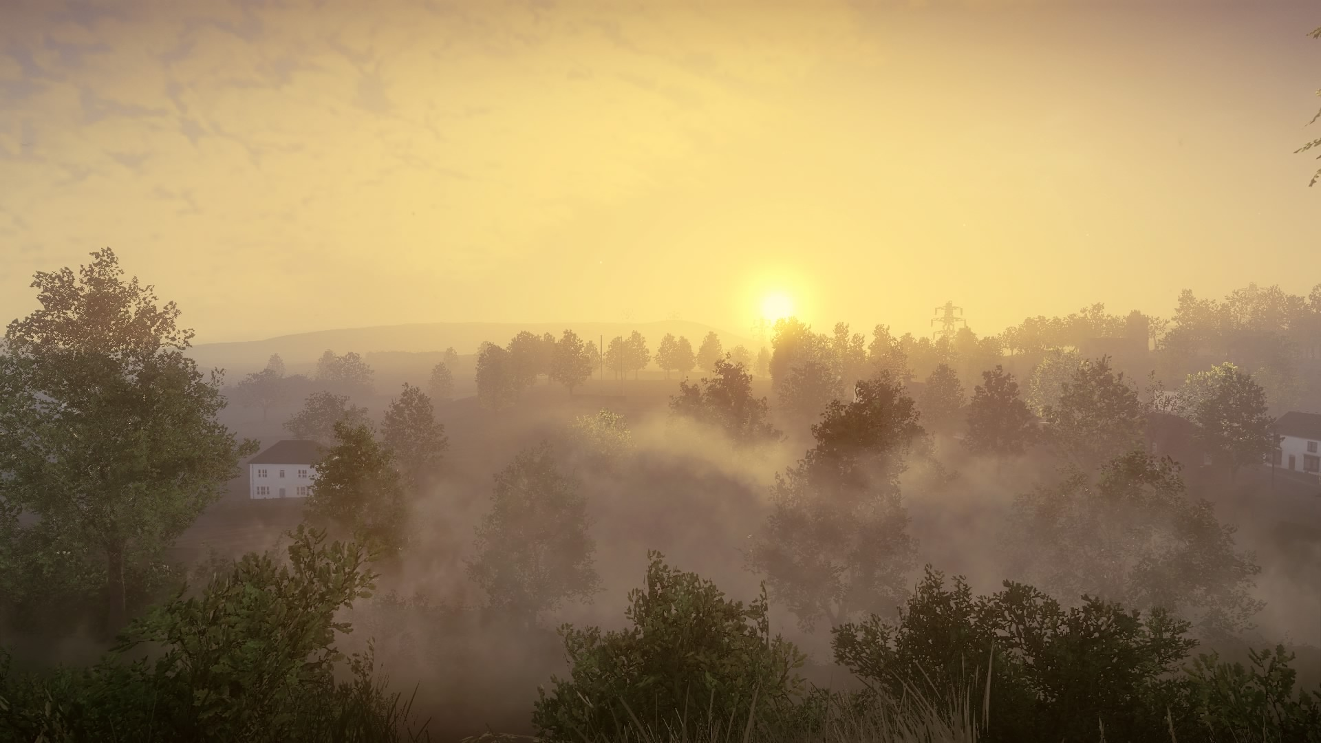 Everybody's Gone to the Rapture ja aamuinen maisema