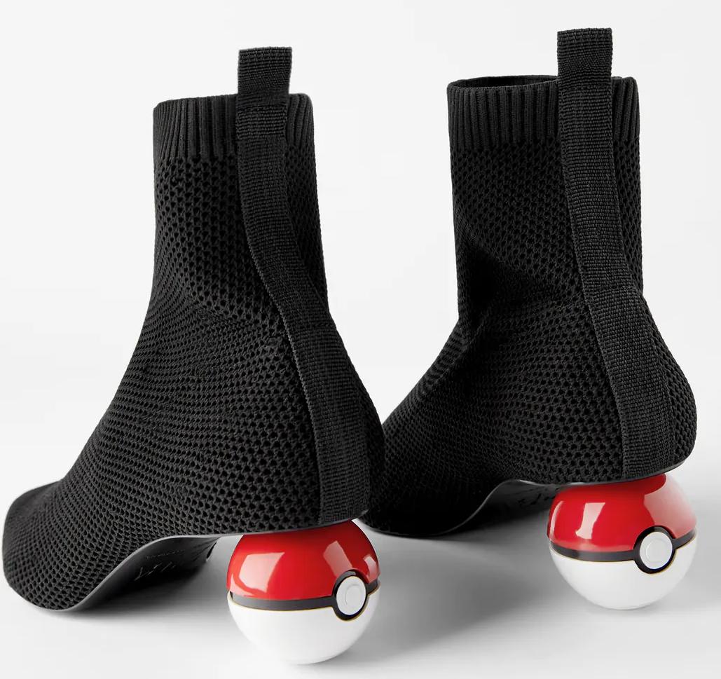 Poképallo Pokémon kengät Zara jalkineet takaapäin