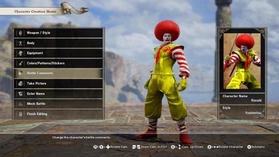 Soul Calibur VI Ronald McDonald