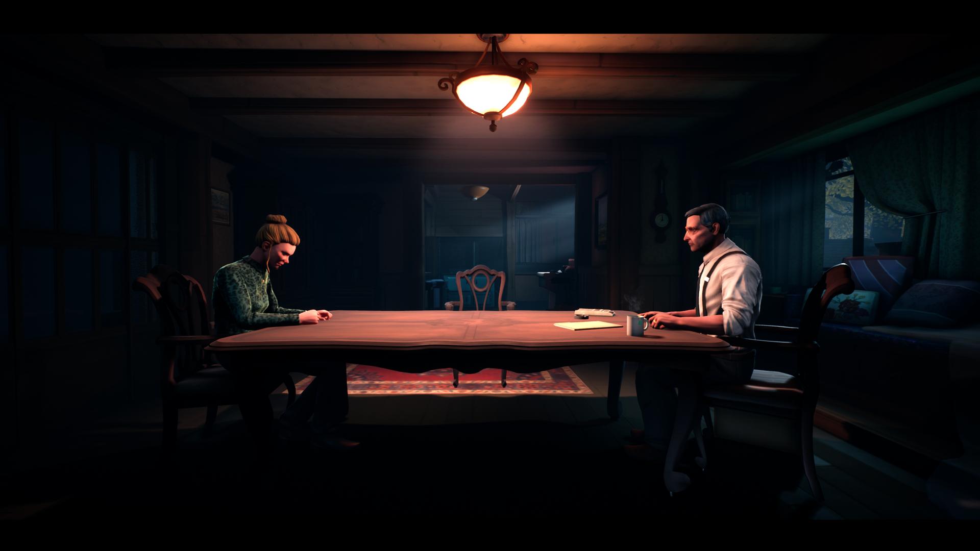 The Occupation neuvottelu pöydän ääressä