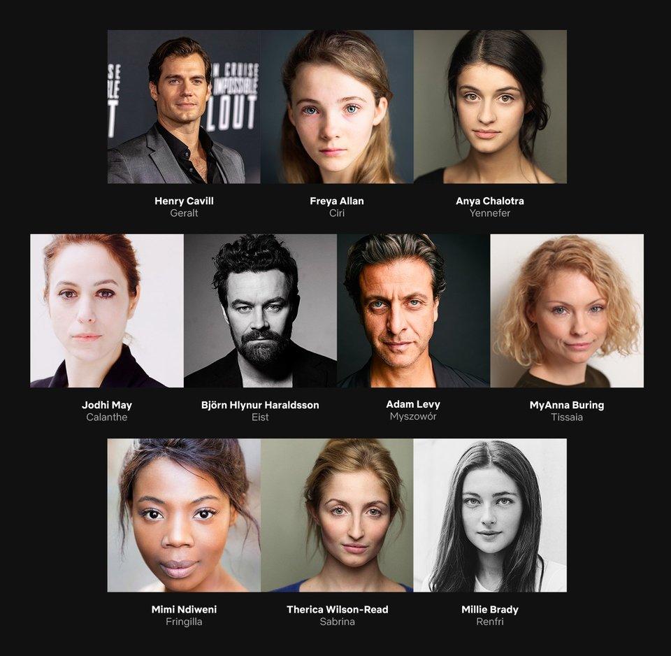 The Witcher Netflix sarja näyttelijät hahmot
