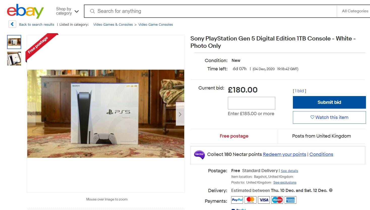 eBay PS5 photo