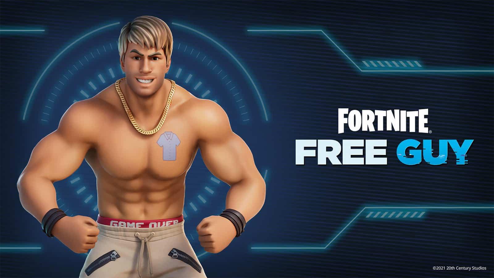 Fortnite Free Guy Ryan Reynolds