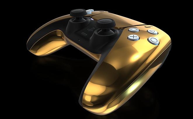 Golden PS5 controller