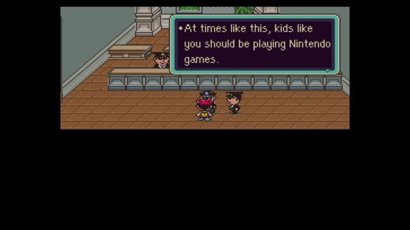 Earthbound SNES poliisit ja Nintendo-pelit