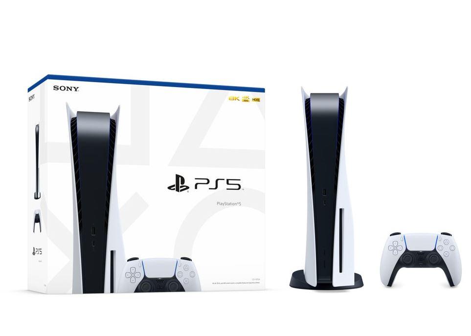 PS5 box art valkoinen