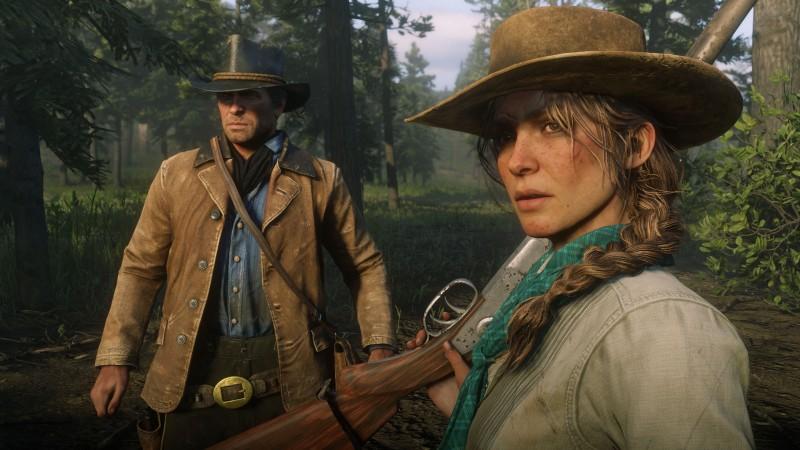 Red Dead Redemption 2 kaksi sankaria jylhän kuusiston