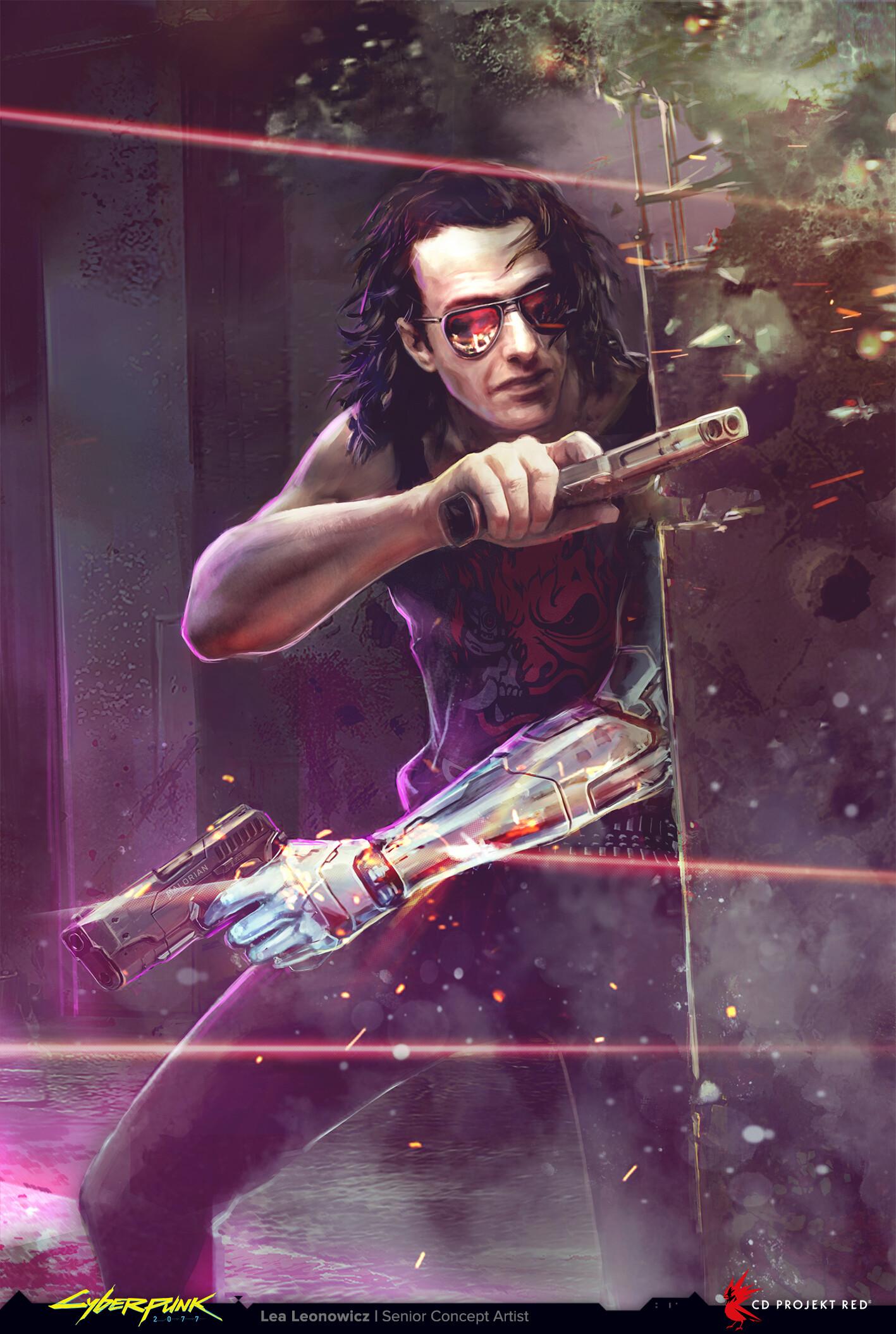 Silverhand konseptitaide concept art Cyberpunk 2077