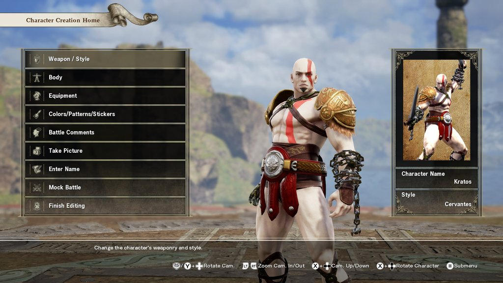 Soul Calibur VI Kratos