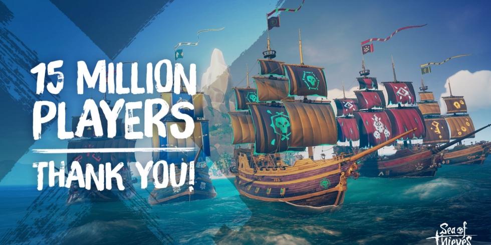 Sea of Thieves 15 miljoonaa