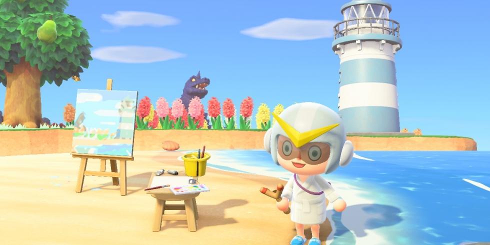 Animal Crossing: New Horizons majakka ja maalaus majakasta
