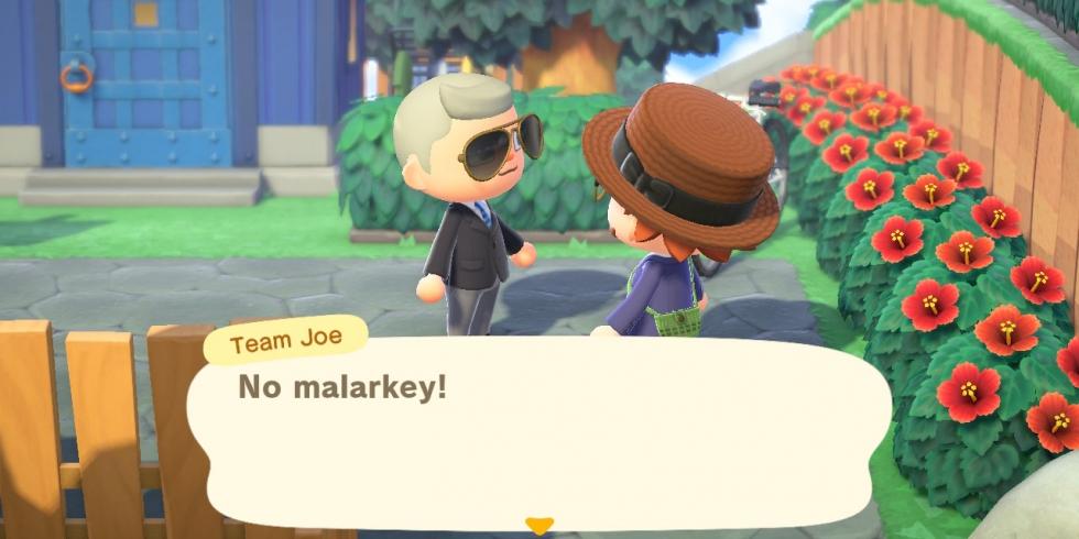 Animal Crossing: New Horizons Biden HQ -saarella itse Joe Biden