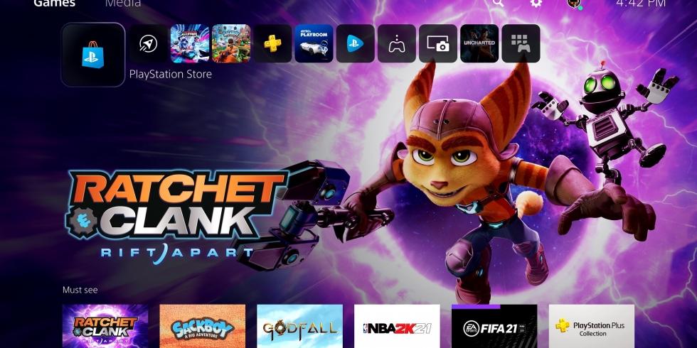 PlayStation 5 käyttöliittymä käyttökokemus ensimmäinen katsaus