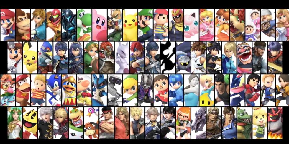 Super Smash Bros. Ultimate kaikki hahmot