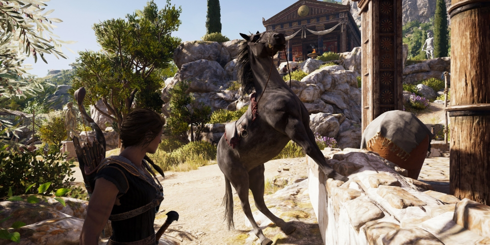 Assassin's Creed Odyssey hevosissa on jotain vikaa