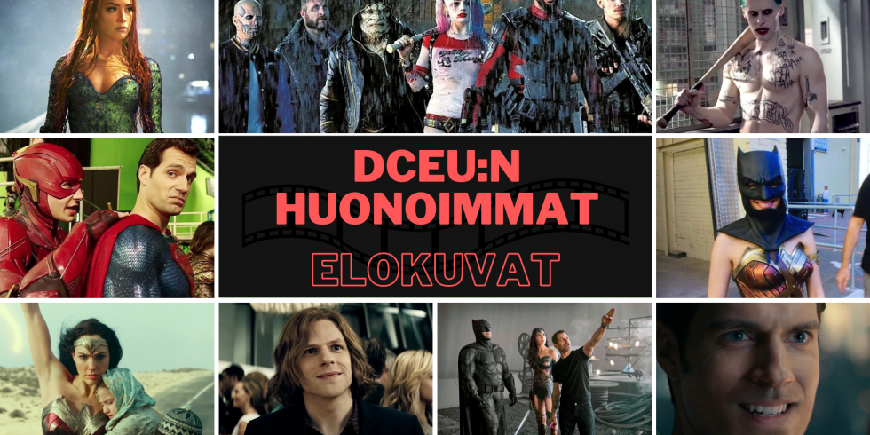 DCEU DC Huonoimmat elokuvat