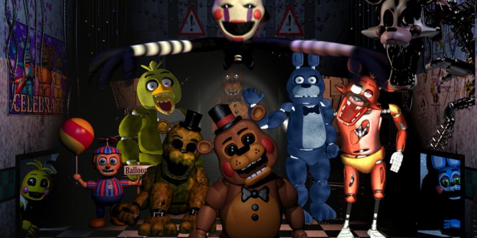 Five Nights at Freddy's kauhua ja säikyttelyä