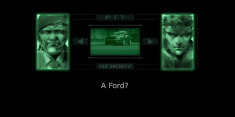 Metal Gear Solid Ford Focus