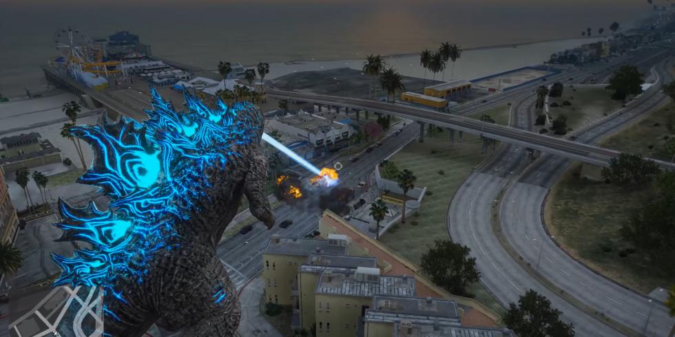 Godzilla Grand Theft Auto V modi