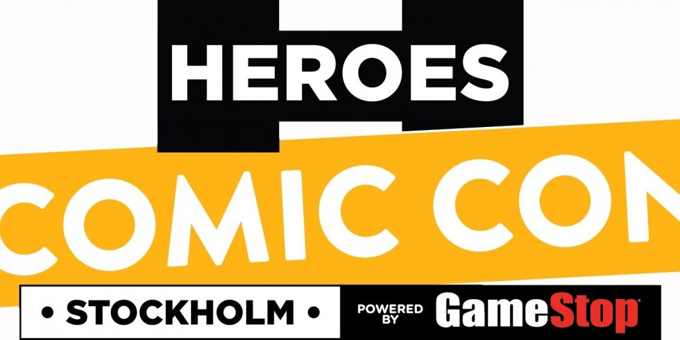 Heroes Comic Con Tukholma valkoinen tausta