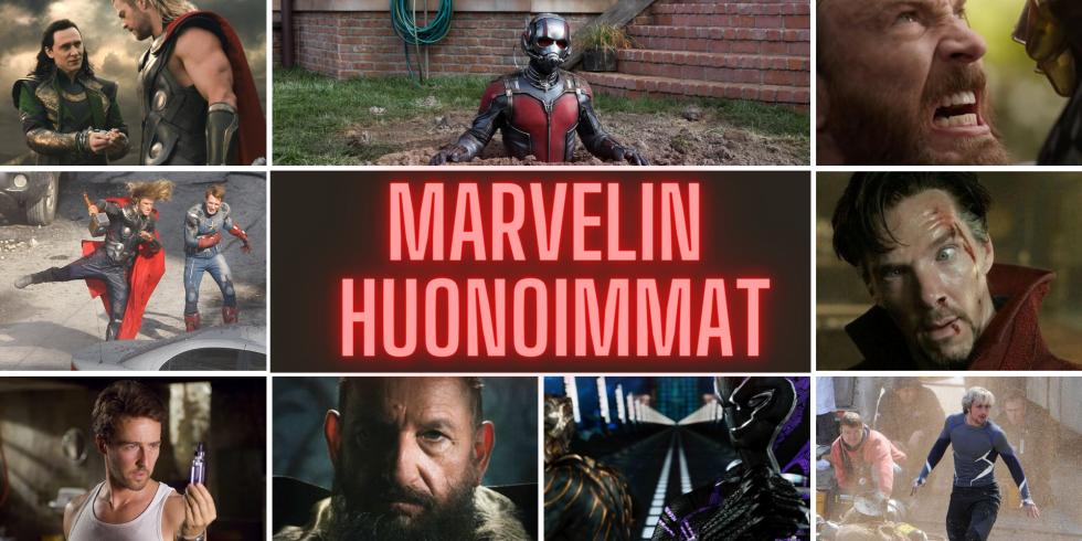 Marvel MCU huonoimmat elokuvat toimitus valitsee yhteisartikkeli
