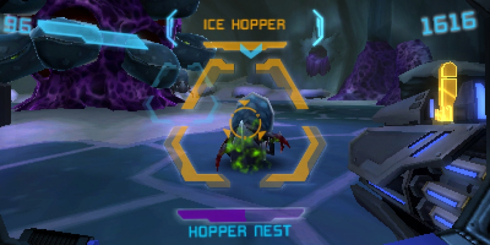 Metroid Prime Federation Force ice hopper