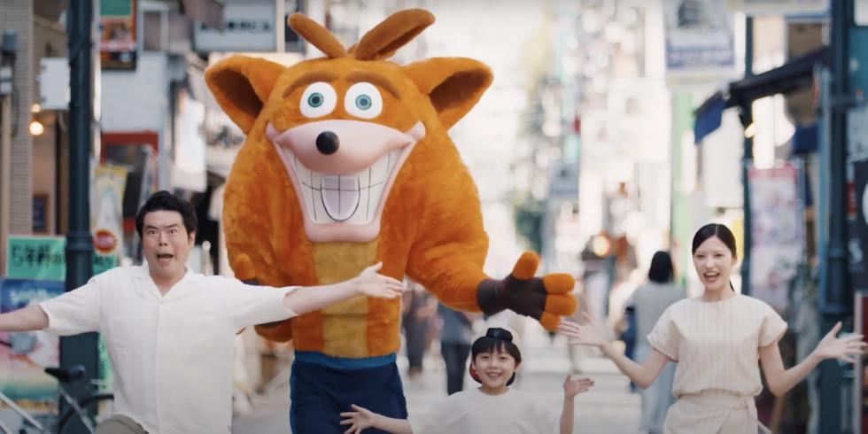 Crash Bandicoot 4 mainos Japanista