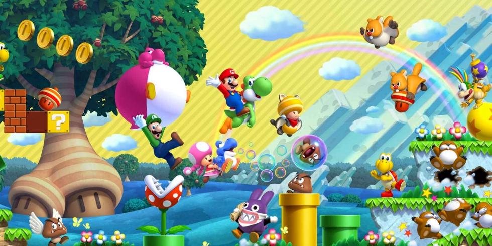 New Super Mario Bros. U Deluxe hahmoja vaikka muille jakaa
