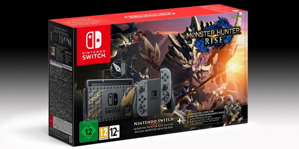 Nintendo Switch Monter Hunter Rise paketti bundle