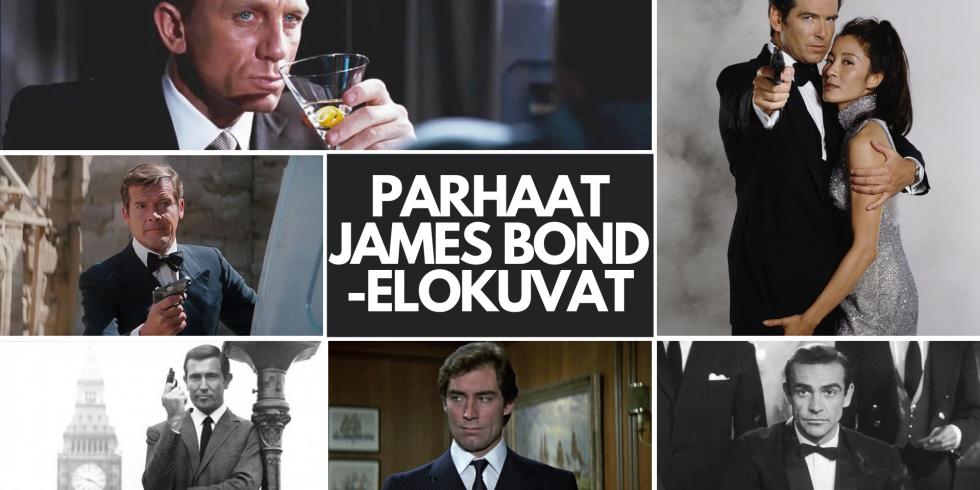 Parhaat James Bond 007 -elokuvat