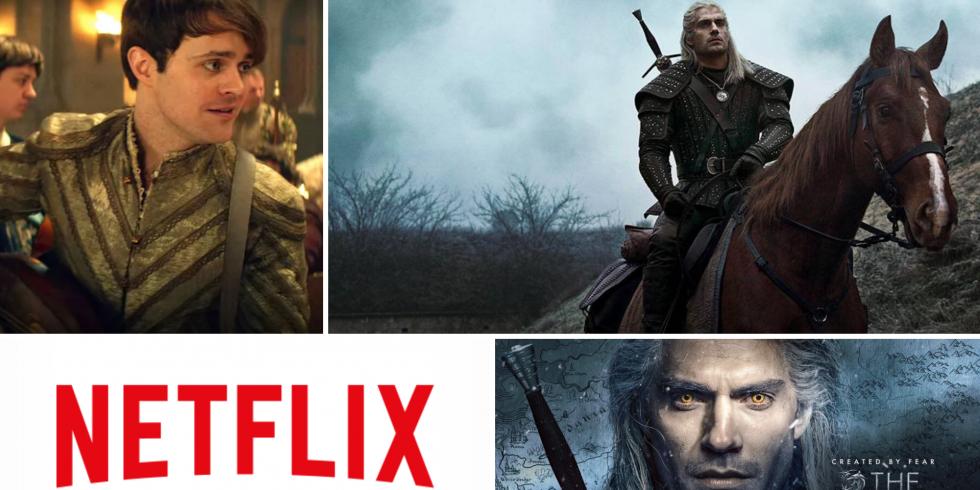 The Witcher Netflix Henry Cavill banneri lantti noiturille