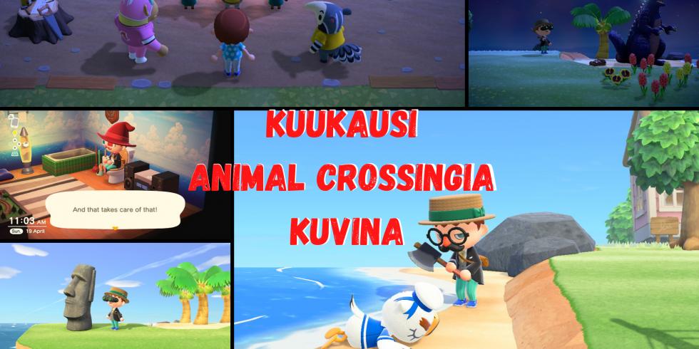 Kuukausi Animal Crossingia kuvina