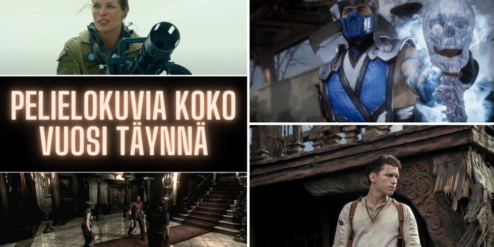 Videopeleihin perustuvat elokuva vuonna 2021 nostokuva