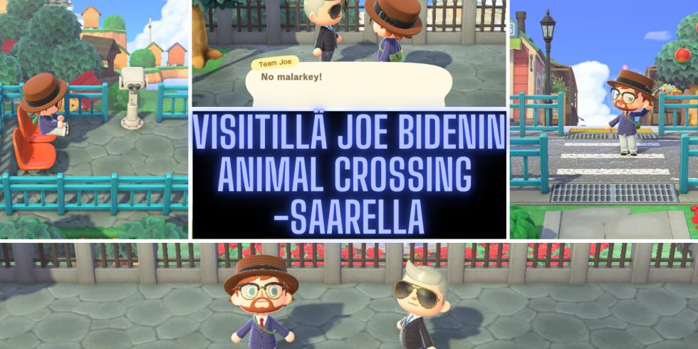 Animal Crossing: New Horizons visiitillä Joe Bidenin saarella