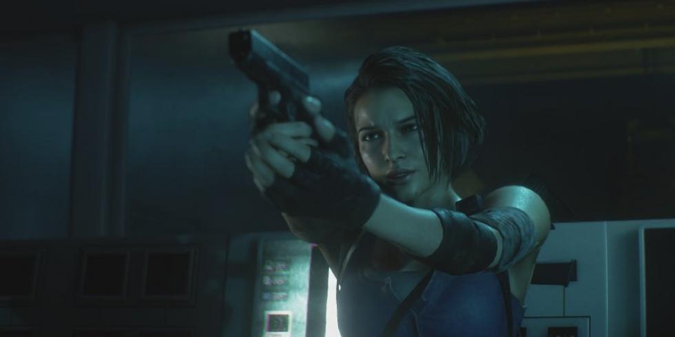 Resident Evil 3 Remake Jill Valentine ja ase