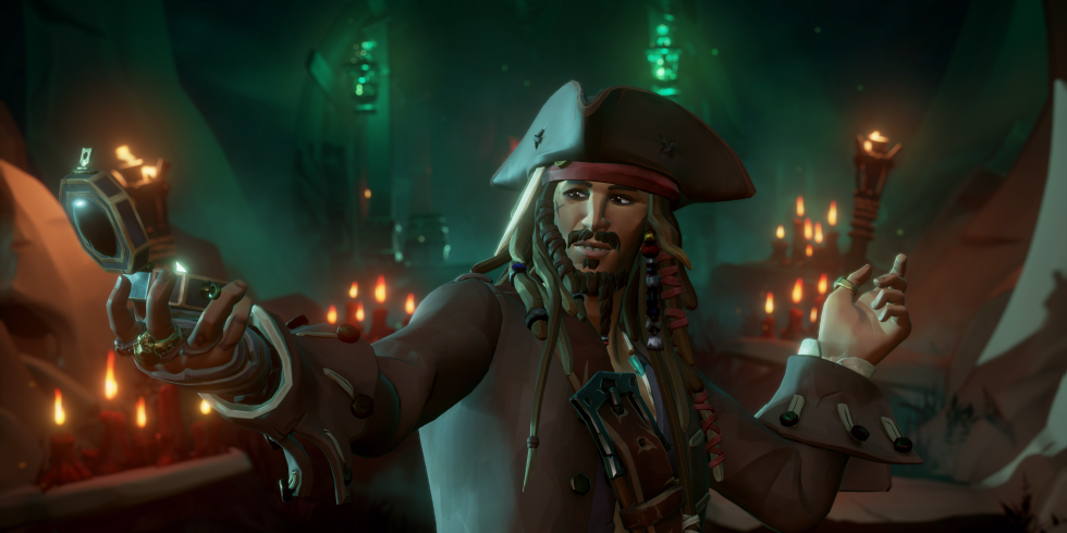 Sea of Thieves Pirates of the Caribbean Jack Sparrow