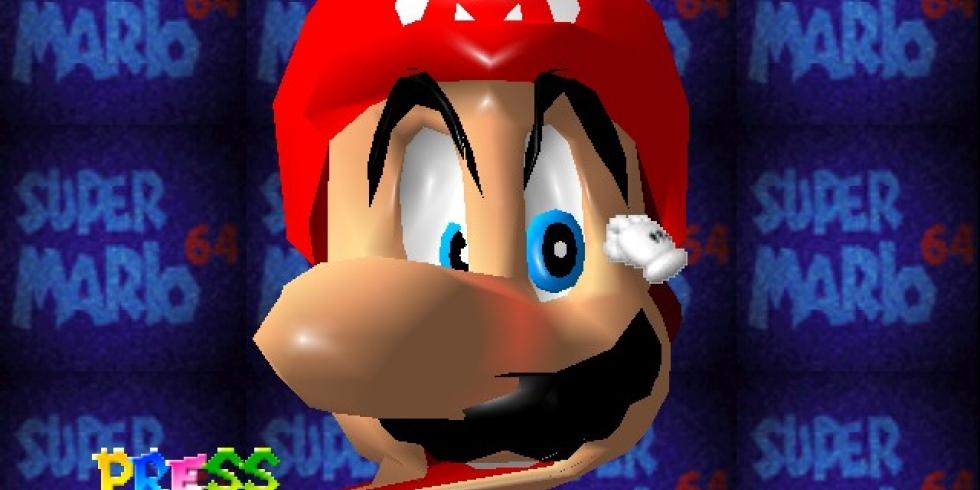 Super Mario 64 intro ruutu title