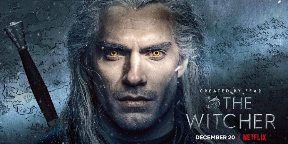 The Witcher Netflix Henry Cavill banneri